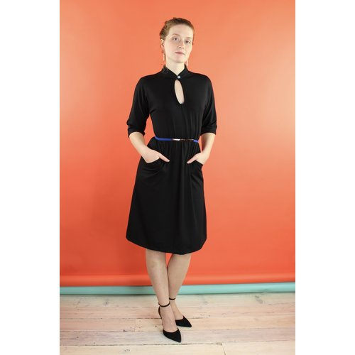Sarah Bibb Constance Dress- 3/4 sleeve Black