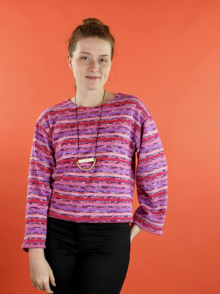 Sarah Bibb Lumi Top - Mag Stripe