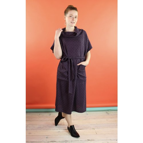 Sarah Bibb Marion Dress - Plum Weave