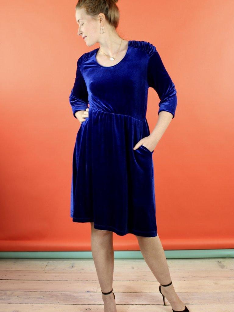 Sarah Bibb Rachel Dress - Sapphire Velvet