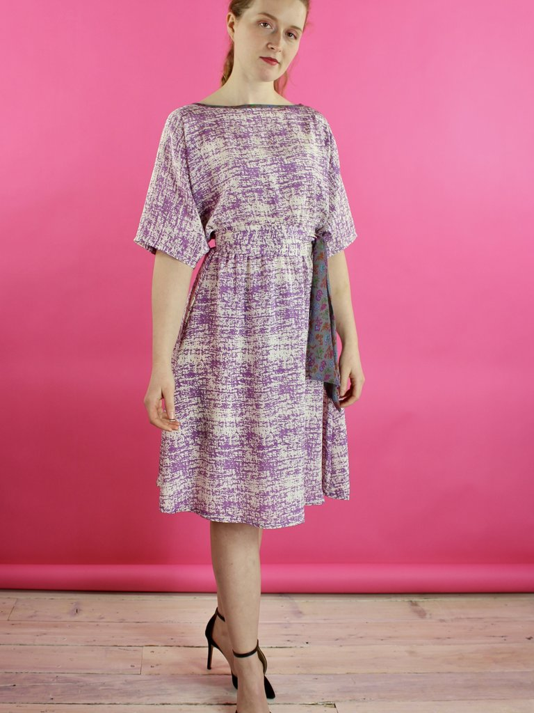 Sarah Bibb Fiona Dress - Lilac Hatch
