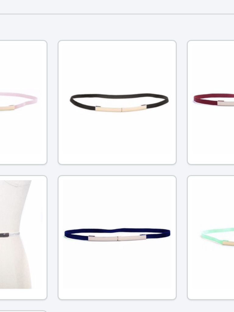 Elise M. Elastic Waist Belt- Multi Colors