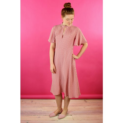 Sarah Bibb Farrah Dress - Dusty Dot