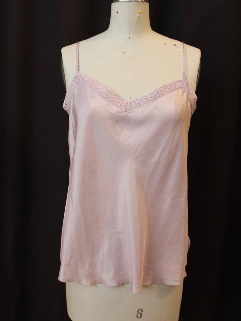 Johnny Was Silk Lace Trimmed Camisole - Quartz