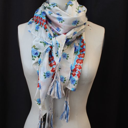 Johnny Was Silk Tassel Scarf - Light Oneal