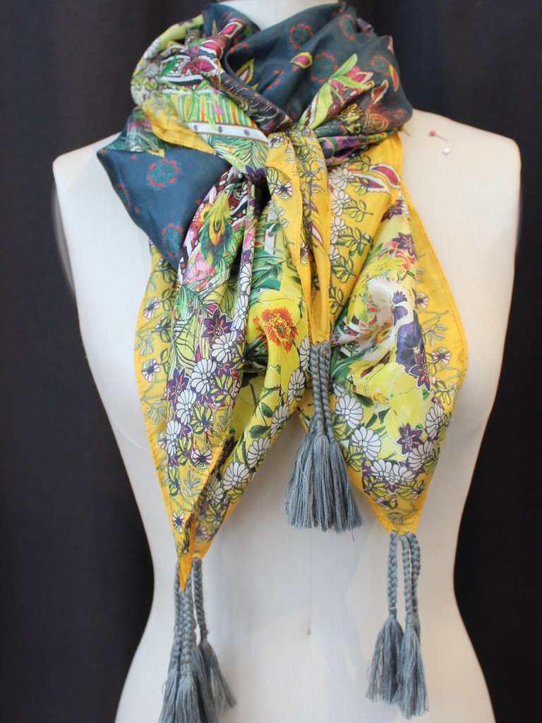 Johnny Was Silk Tassel Scarf - Risha