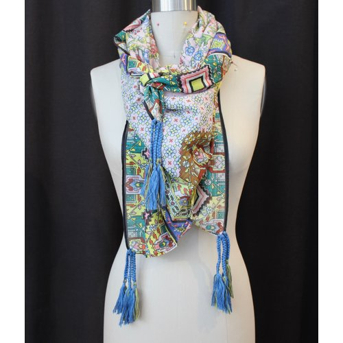 Johnny Was Cotton Tassel Scarf - Indianio