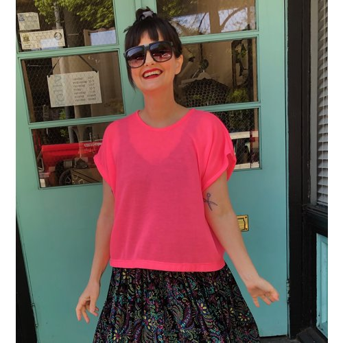 Sarah Bibb Lumi Top s/s - Neon Pink