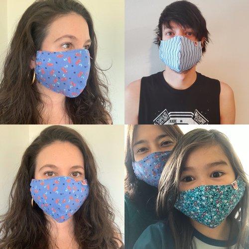 Busy Mushroom ADULT Premium Mask - Multiple Colors