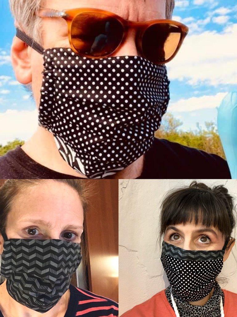 Sarah Bibb Mask Set of 5 Assorted Black Prints