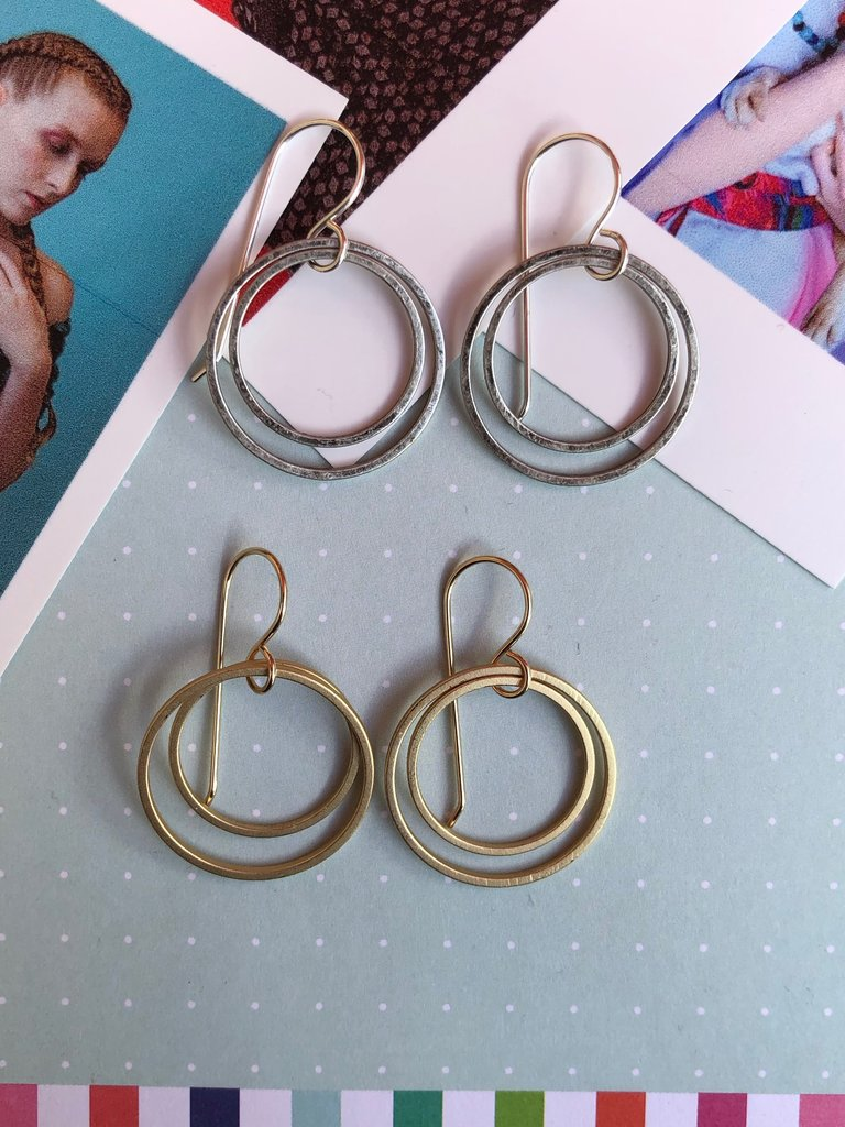 Stowaway Double Circle Earrings - Multiple Colors