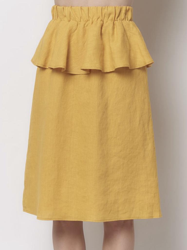 Corey Lynn Calter Asi Peplum Skirt - Sunny