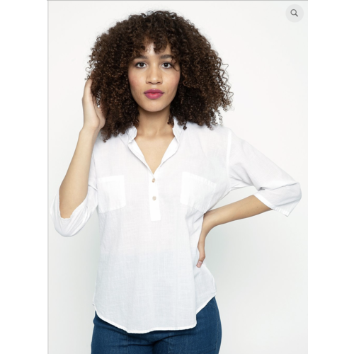 Cameo Tula Blouse - White hatch