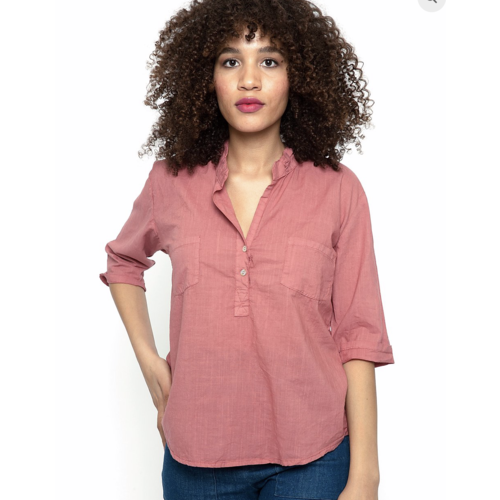 Cameo Tula Blouse - Papaya hatch