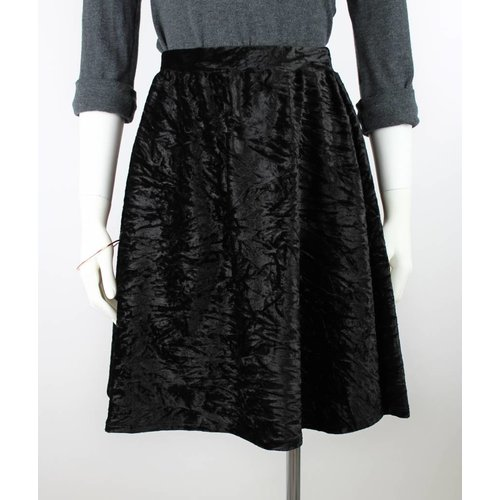 Sarah Bibb Syd Skirt  - Black Velvet