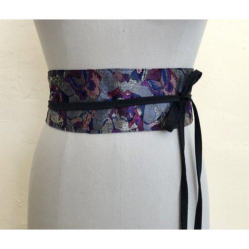 Sarah Bibb Obi Belt  -  Butterfly /Black Tie
