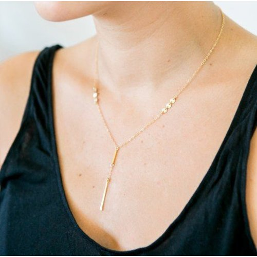 Katie Dean Jewelry Two Bars Necklace