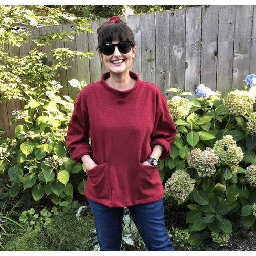 Sarah Bibb Billie Sweatshirt - Cardinal