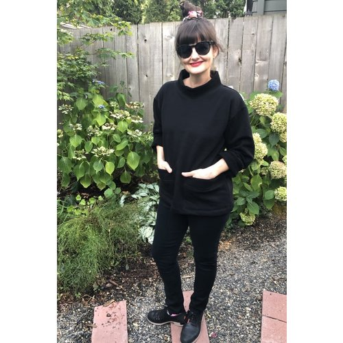 Sarah Bibb Billie Sweatshirt - Cozy Black
