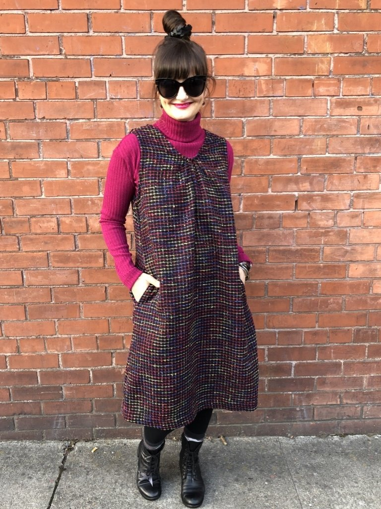 Sarah Bibb Jane Jumper Dress - Stained Glass