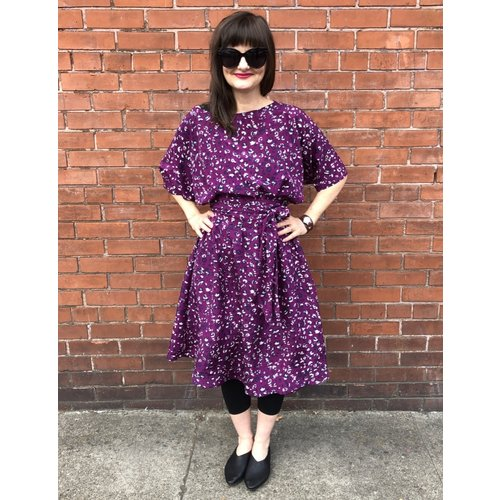 Sarah Bibb Fiona Dress - Orchid Leo