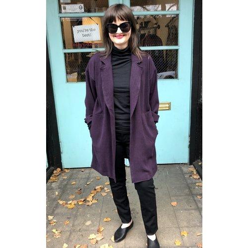 Sarah Bibb Adelia Duster Jacket - Aubergine