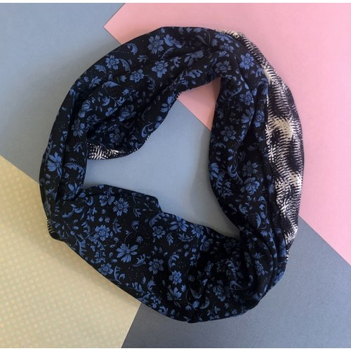 Sarah Bibb Single Loop Infinity Scarf -Assembly/Nightshade