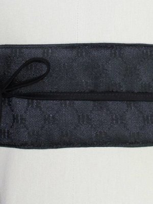 Sarah Bibb Obi Belt- Fancy Black