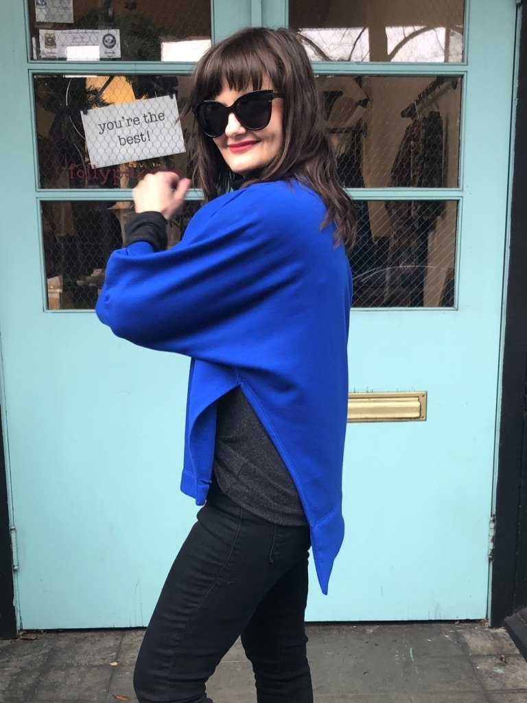 Sarah Bibb Romeo Top - Softest Cobalt