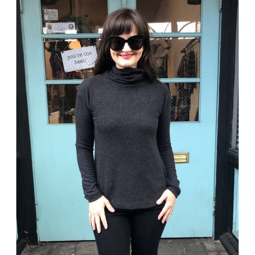 Sarah Bibb Tasha Turtleneck - Carbon