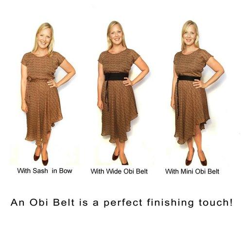 Sarah Bibb Obi Belt - Black