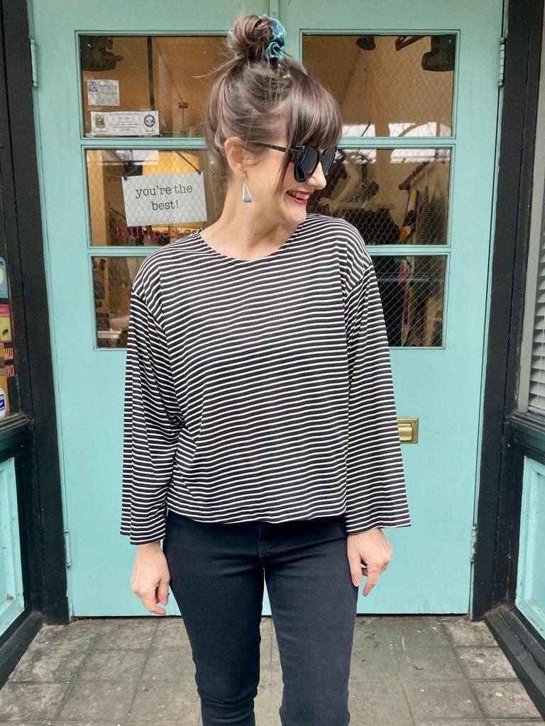 Sarah Bibb Lumi Top - Street Stripe