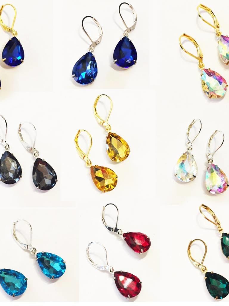 Nicole Weldon Glass Teardrop Earrings