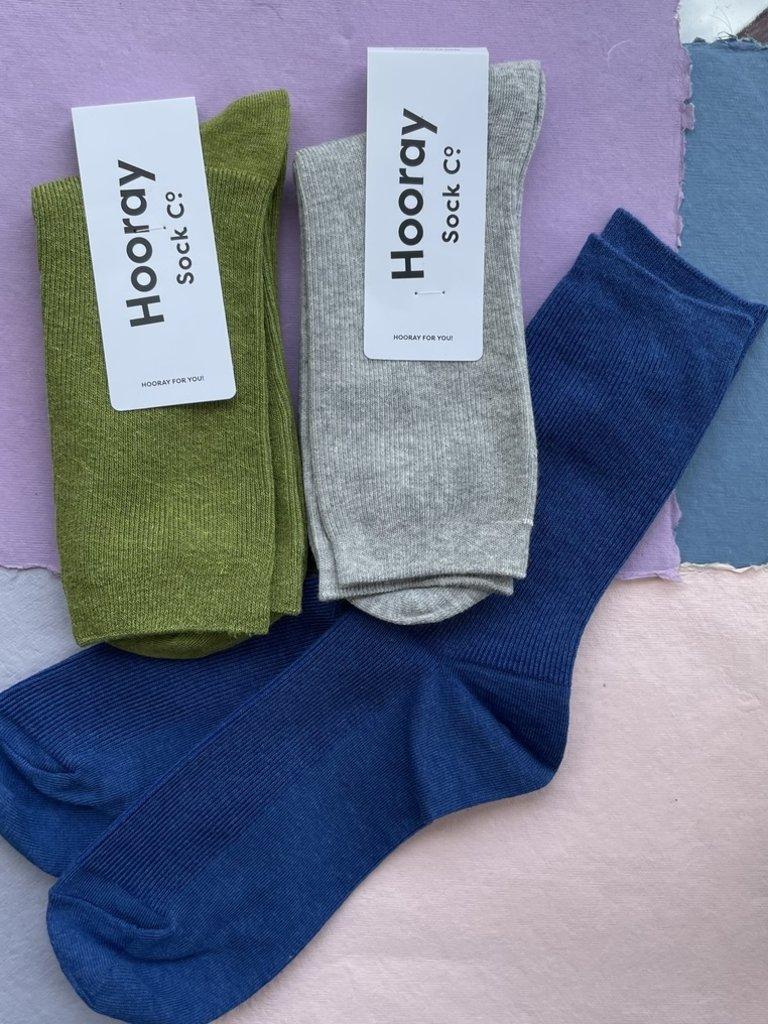 Hooray Everyday 3 Pack Socks -Ocean/Moss/Cement