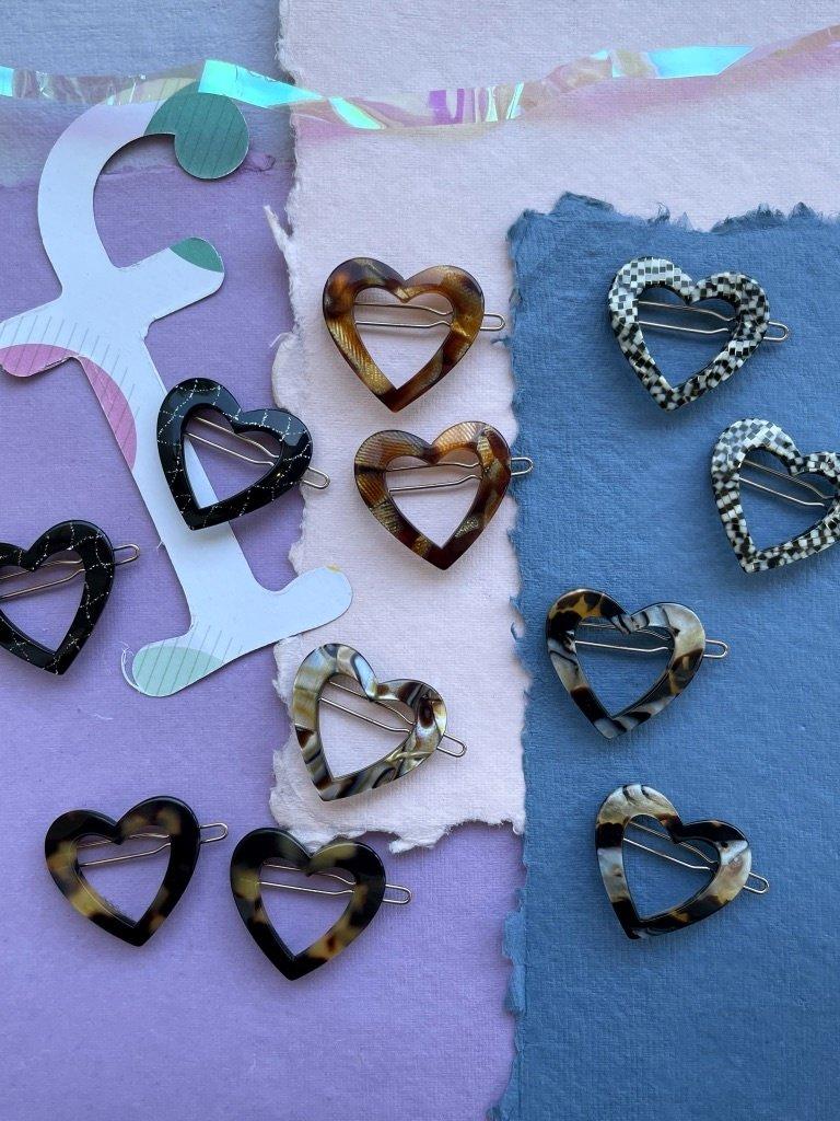 Sorca Heart Set Barrettes - Multiple Colors