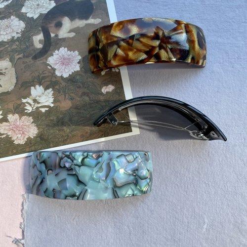 Sorca Large Curved Barrette - Mulitple Colors