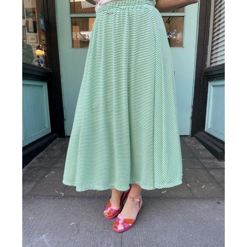 Sarah Bibb Syd Skirt Long - Grass Stripe