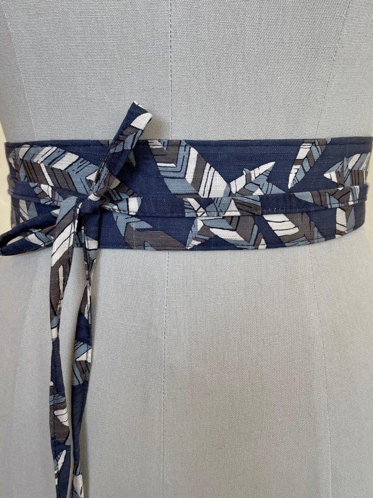 Sarah Bibb Mini Obi Belt  - Leafy