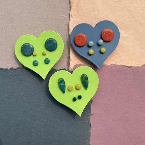 InsideOut Creations Set of 3 Studs - Multi