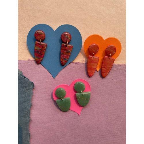 InsideOut Creations Dip Dangle Earrings - Multiple Colors