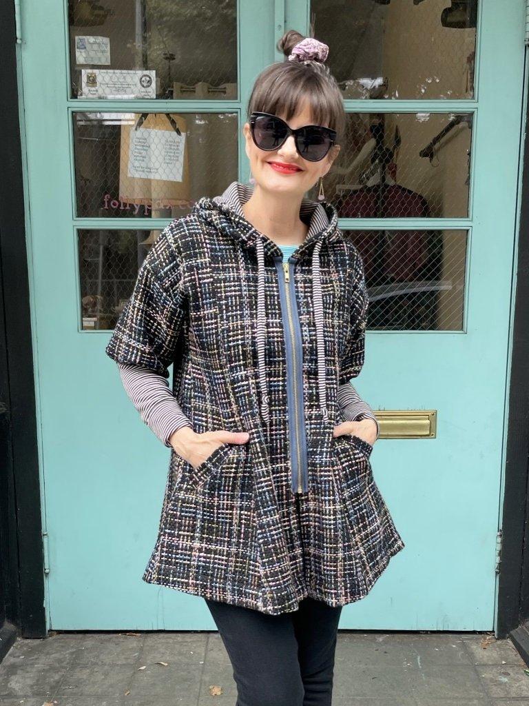 Sarah Bibb Parker Hoodie Coat - Morris