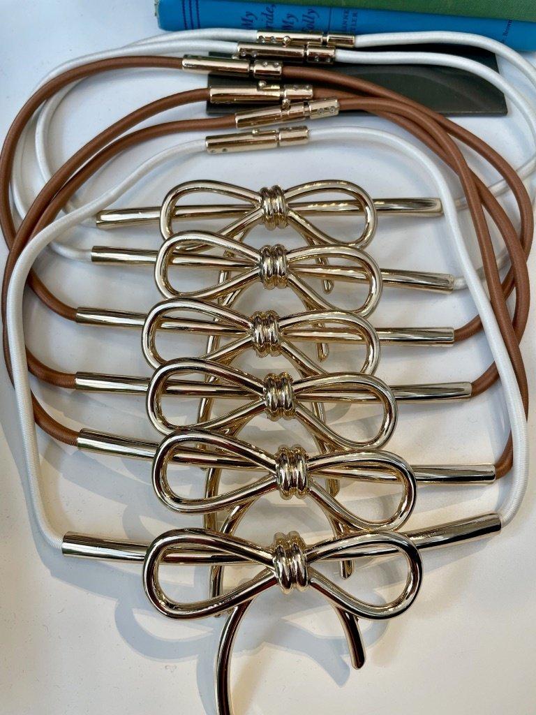 Elise M. Bow Belt - Multiple Colors