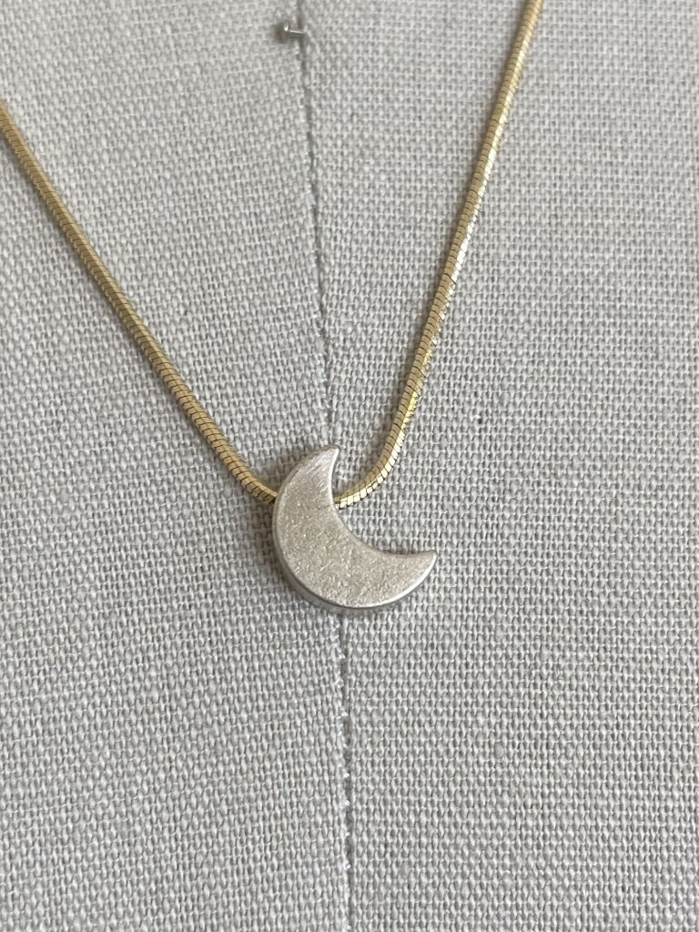 Reb Vinyard Jewelry Crescent Moon Slider Necklace