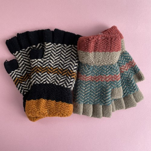 Fingerless Gloves - Multi Color