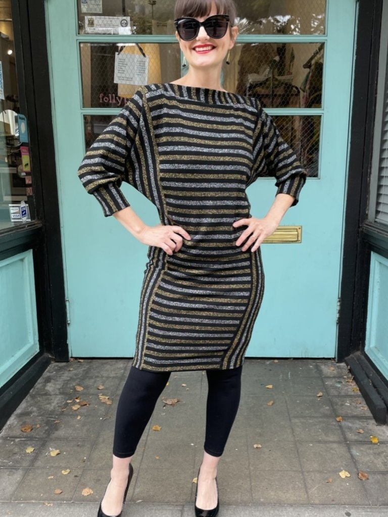 Sarah Bibb Beth Dress - Disco Stripe