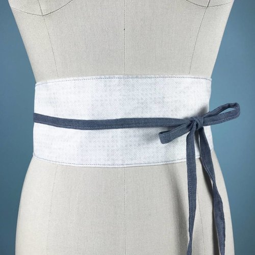 Sarah Bibb Obi Belt  - Grey X