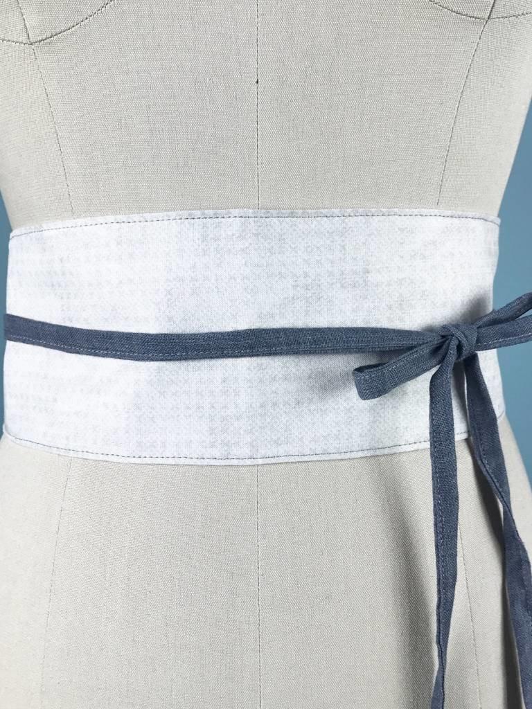 Sarah Bibb Wrapping Belt  - Grey X
