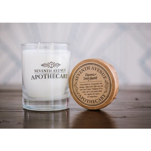 Seventh Avenue Apothecary Glass Jar Candle - Espresso & Dark Chocolate