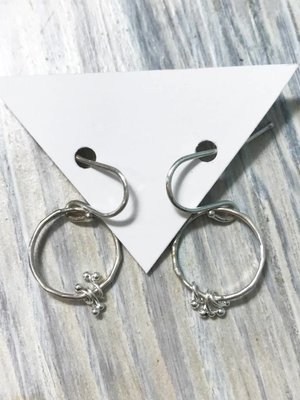 Kiersten Crowley Freya Circle Earrings- Sterling Silver