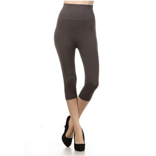 M Rena Tummy Tuck Cropped Leggings  -Dark Grey
